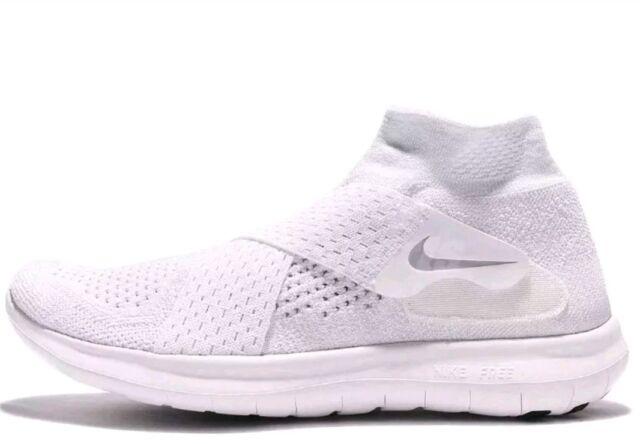 b6fc89f1c0be1 Wmns Nike Free RN Motion FK 2017 Run Flyknit White Grey UK 7.5Running 880846 -
