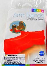 INTEX Neon Orange Arm Bands Childrens Swim Aide Large Pool Water Wings Floaties