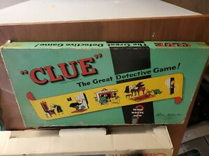 VINTAGE-CLUE-BOARD-GAME-1949-PARKER-BROTHERS-NEAR-COMPLETE