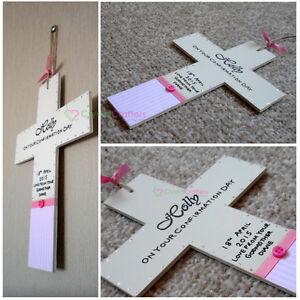 Personalised Handmade Sainte Communion//Confirmation carte-garçon avec croix
