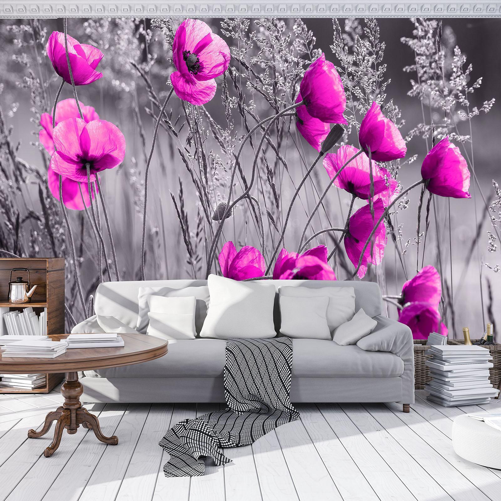 Photo Wallpaper Mural Non-woven 11764_VEN Poppies  Field Meadow Flower Poppy Flo