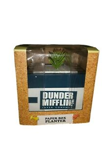 The Office Dunder Mifflin Company Copy Paper Ream Box Desk Planter Plant Vase