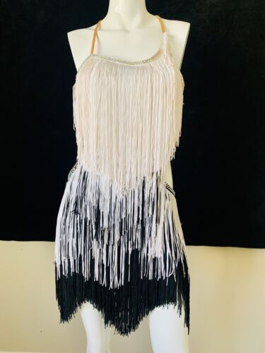 Latin/rhythm fringe dress