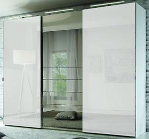 staud media schwebet renschrank mit tv aussparung u spiegel wei breite 225 cm ebay. Black Bedroom Furniture Sets. Home Design Ideas