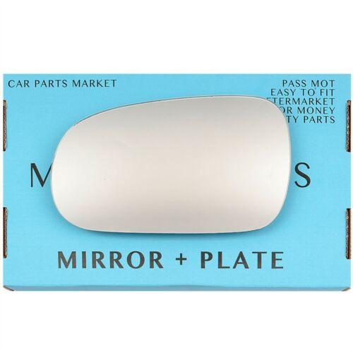 Left Passenger side Flat Wing door mirror glass for Honda Civic 1996-00 plate
