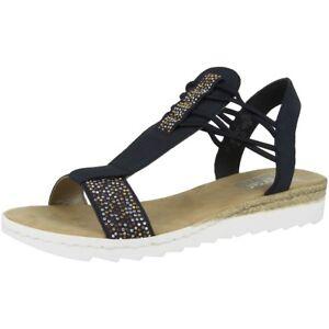 new styles 9624a 4ff2c Details zu Rieker Brillastica-New York Schuhe Damen Sandalen Sandaletten  lake 63062-14