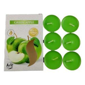 6 Bougies Chauffe-Plat Senteur Pomme Verte Parfum d'Ambiance Intérieur