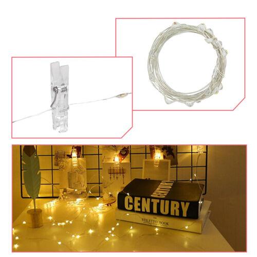 Photo Clip Fairy String Led Light Christmas Garland Wedding Party Home Decor 5m