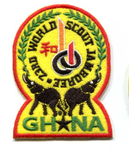 23rd world scout jamboree GHANA Contingent Badge 2015
