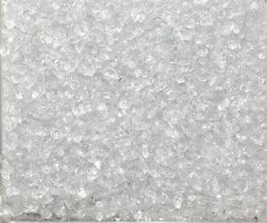 GLASNUGGETS 1000 g. Glassteine 2-4 mm Glas Granulat Sand 1 kg farbig NATUR -99