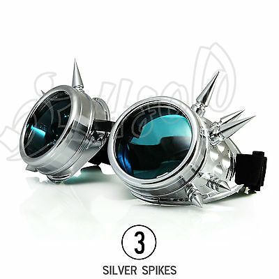 Classic Goggles Sunglasses Mens Ladies Black Neon Retro Shades Festival Vintage