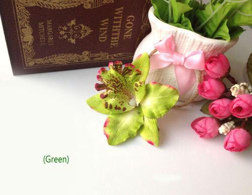 Nuptiale mariage Orchidée Fleur Pince à cheveux Barrette Broche Femmes Filles Accessoires