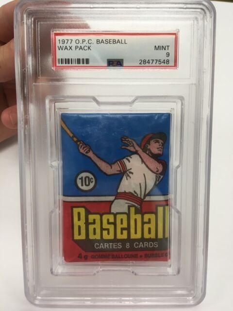 1977 OPC O-Pee-Chee Baseball PSA Graded 9 wax pack (scarce, unopened)