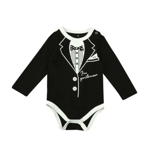 Tuxedo Print Romper James Bond Infant//Toddler Bond..