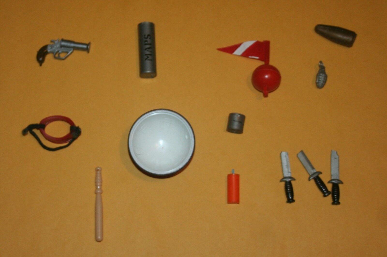 Vintage GI JOE Lot of Accessories 1960's Adventure Team