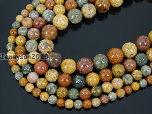 Natural Marine Agate Gemstone Round Beads 15'' Strand 4mm 6mm 8mm 10mm 12mm