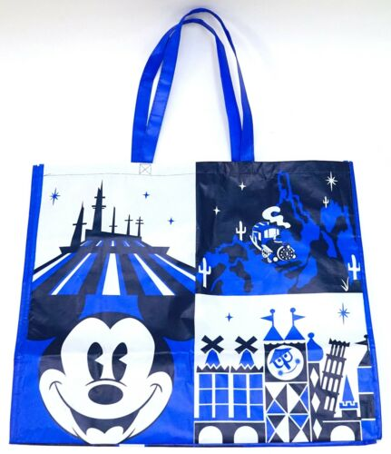 Disney Parks Blue Magic Kingdom Mickey /& Attractions Large Reusable Tote Bag