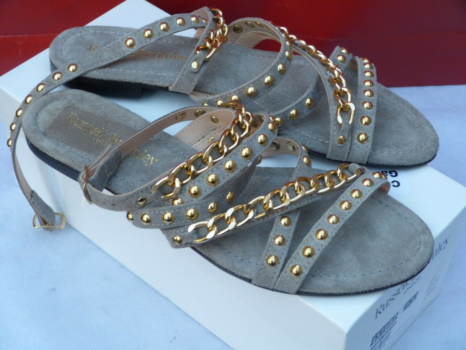 Russellbromley para para para mujeres Sandalias Tamaño 7 Mini Gladiadores Nuevo sandalios femininos Usa  toma