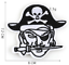 miniature 5 - PIRATE SKULL Embroidered Biker Patches Skeleton Iron / Sew on Badges Grim Reaper