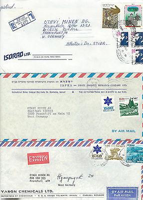 Herrlich Alle Welt Israel Lot Von 6 Lupobriefen Aus Den 80èrn Schmerzen Haben Briefmarken Weltweit