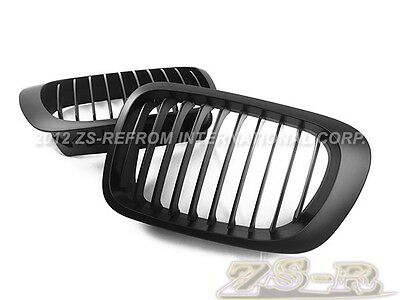 1Line Gloss Black Front Grilles Grill Fit For BMW 3 Series E46 2Door 2002-2004