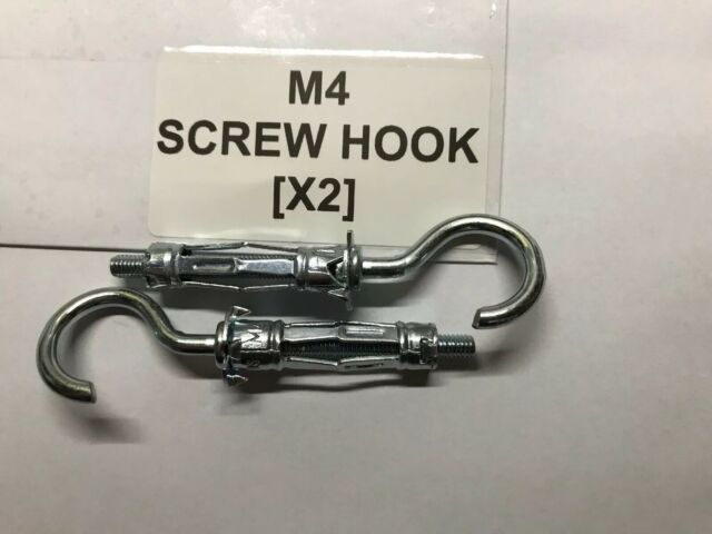 Hooks for Molly Plasterboard Anchor Plug Select M4 M5 M6 Right Angle Rounded Eye