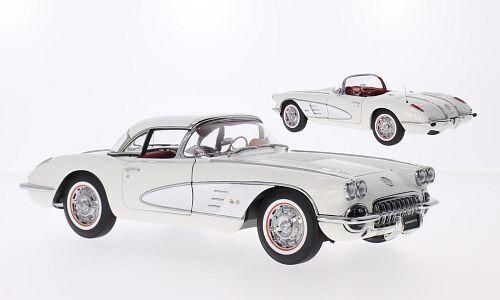 71147 chevrolet corvette 1958 weiss, 1,18 autoart
