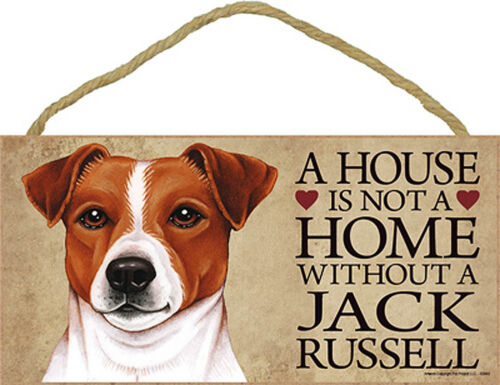 Jack Russell Terrier Wood Dog Sign Wall Plaque Photo Display A House Is Not A...