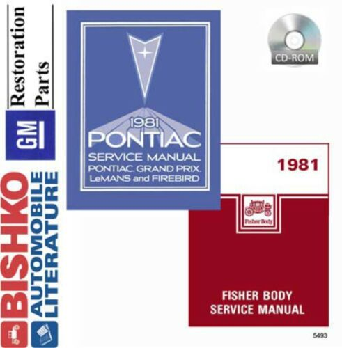 1981 Pontiac Firebird Bonneville Shop Service Repair Manual CD Engine Drivetrain