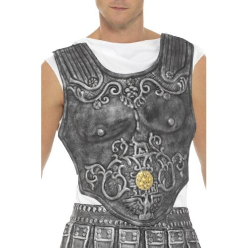Men/'s Roman Soldier Armour Breast Plate Fancy Dress Costume Warrior Stag Party