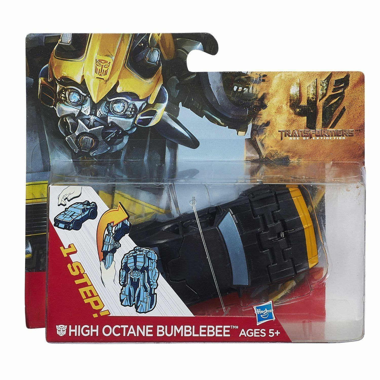 NEW TRANSFORMERS AGE OF EXTINCTION ONE-STEP CHANGER HIGH OCTANE BUMBLEBEE CAMARO