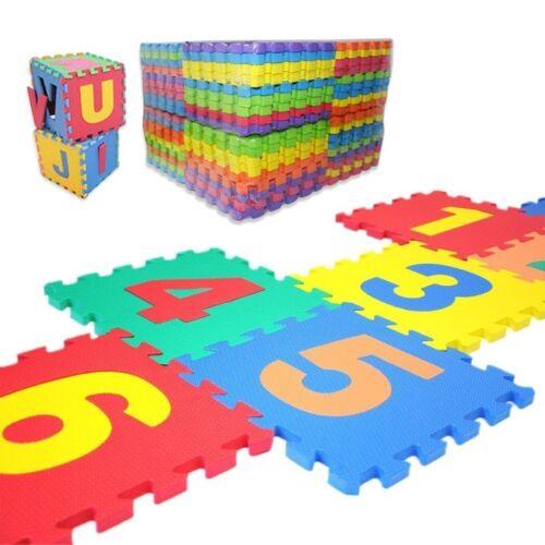 36pcs Soft EVA Foam Baby Kids Play Mat Alphabet Number Puzzle 15 x 15cm