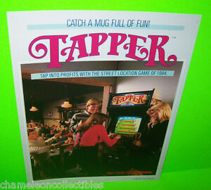 TAPPER-By-MIDWAY-1984-ORIGINAL-NOS-VIDEO-ARCADE-GAME-PROMO-SALES-FLYER-NO-STAMPS