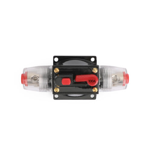 100A Circuit Breaker Stereo Inline Reset Fuse for Car Red U3 50A 30A 80A