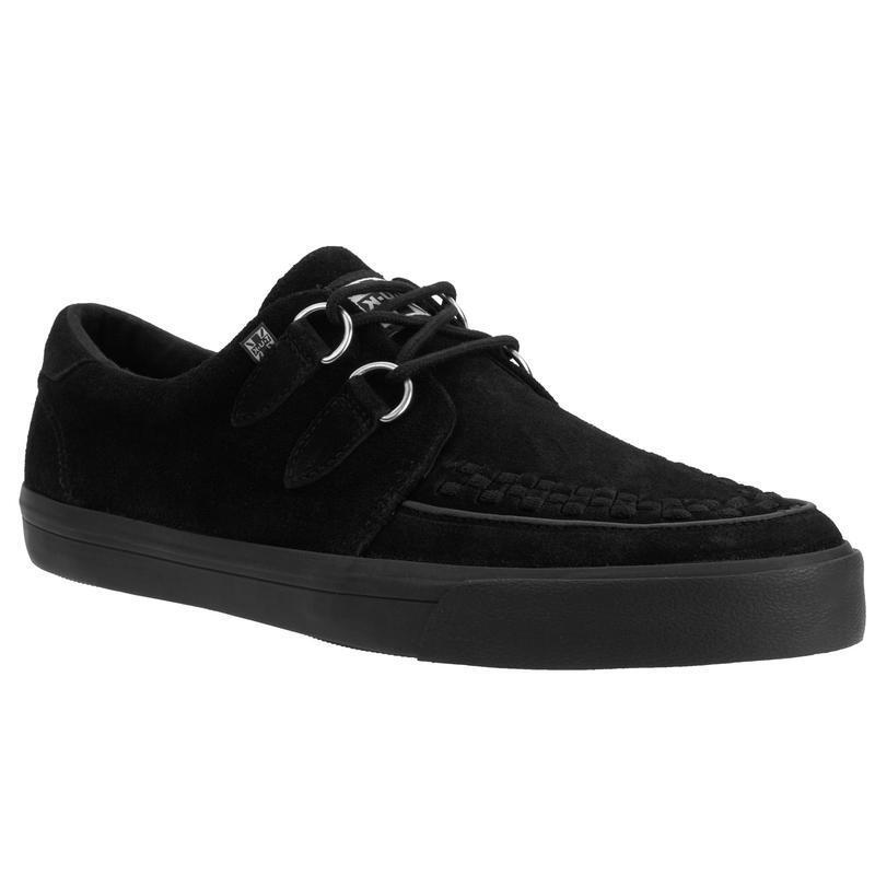 T.U.K A9178 VLK D Ring Creeper Sneaker Black Suede