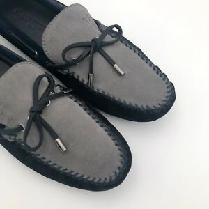2475787ae1d Details about $650 Louis Vuitton Mens Black Blue Leather Loafer Moccasin  Shoes Size UK8.5 42.5