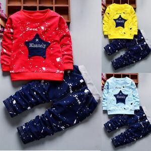 2PCS-Set-Toddler-Kids-Baby-Boys-T-shirt-Tops-Long-Pants-Tracksuit-Casual-Clothes