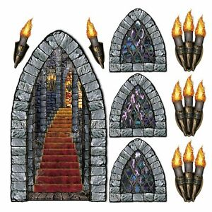 Stairway Window Amp Torch Props Party Accessory 1 Count