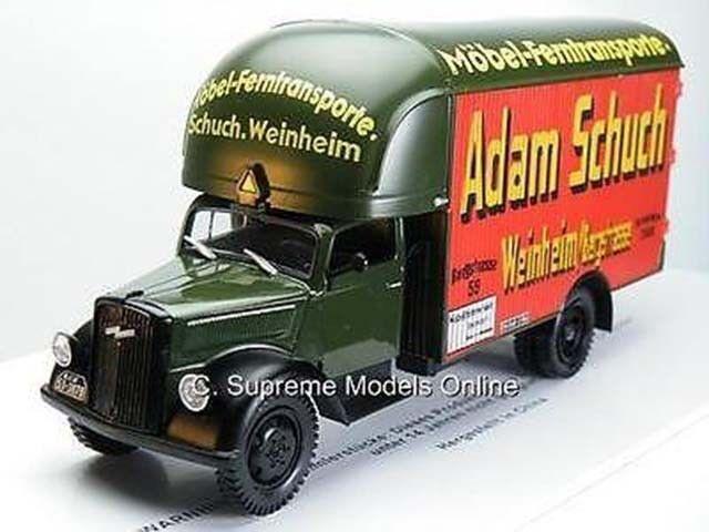 ADAM SCHUCH OPEL BLITZ TRUCK MODEL 1 43RD SCALE BOX BACK PACKAGED TYPE Y0675J^^