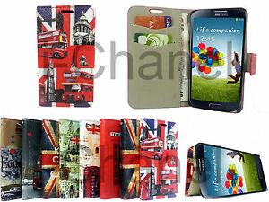 NUOVO-stand-in-Pelle-Portafoglio-Flip-Cellulare-Custodia-Cover-per-Samsung-Galaxy-S4