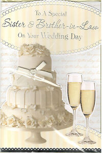 sister brother in law wedding card to a special sister brother