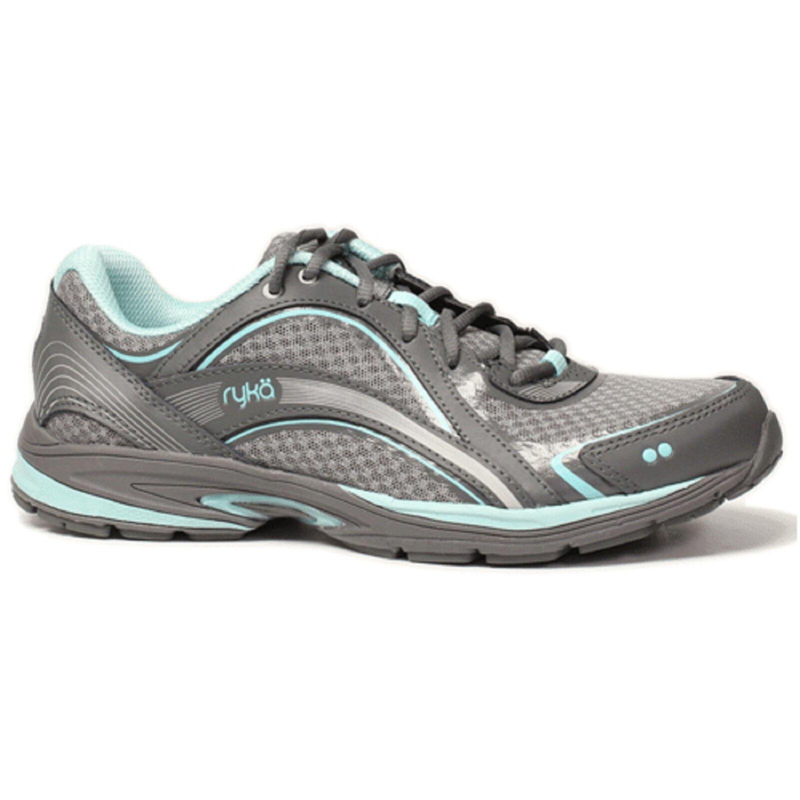 Women Ryka SKY WALK C7997M1021 Grey Aqua Lace-Up Athletic Walking shoes