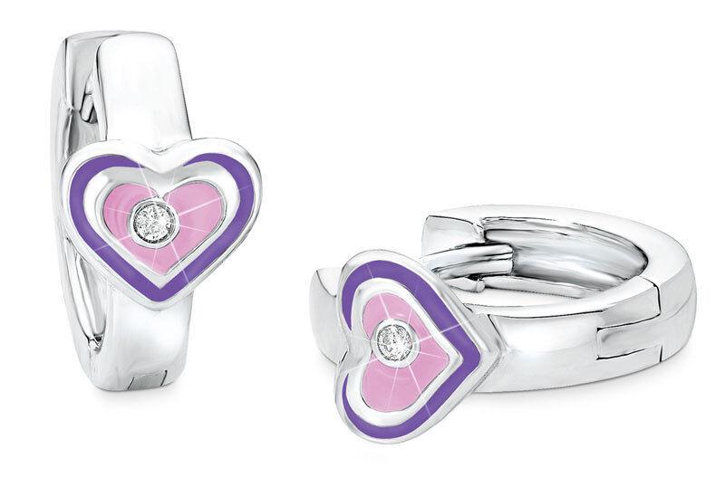 Prinzessin Lillifee Créoles Cœurs 9045341 silver 925
