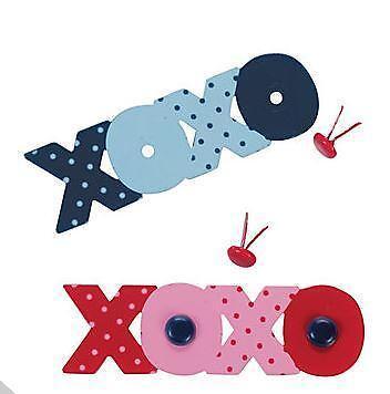 4 XOXO Love Themed Brads w// 8 Mini Brad Scrapbooking Valentine