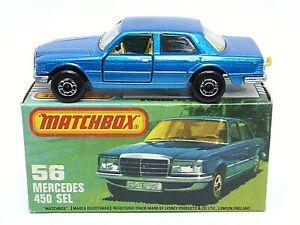 Matchbox-Lesney-No-56e-Mercedes-450-SEL-en-TIPO-039-K-039-sin-034-NUEVO-034-Caja