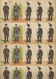 Carabinieri N°3 - Soldatini di Carta - WWI Senza Editore - Paper Soldier