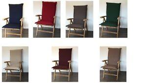 luxus hochlehner auflagen 123x50 cm rei verschluss sand taupe gr n blau rot grau ebay. Black Bedroom Furniture Sets. Home Design Ideas