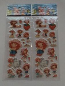 2pcs-lot-Cartoon-STRAWBERRY-SHORTCAKE-Puffy-Stickers-Sheets-Party