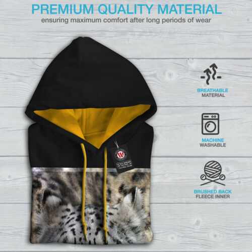 Contrast Beast Cat gold Wild Black Men Hood Hoodie Big New Animal XP1qTT