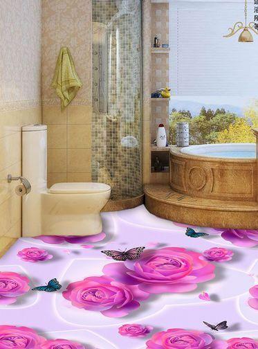 3D Fleurs 19 Fond d'écran étage Peint Peint Peint en Autocollant Murale Plafond Chambre Art d7a548